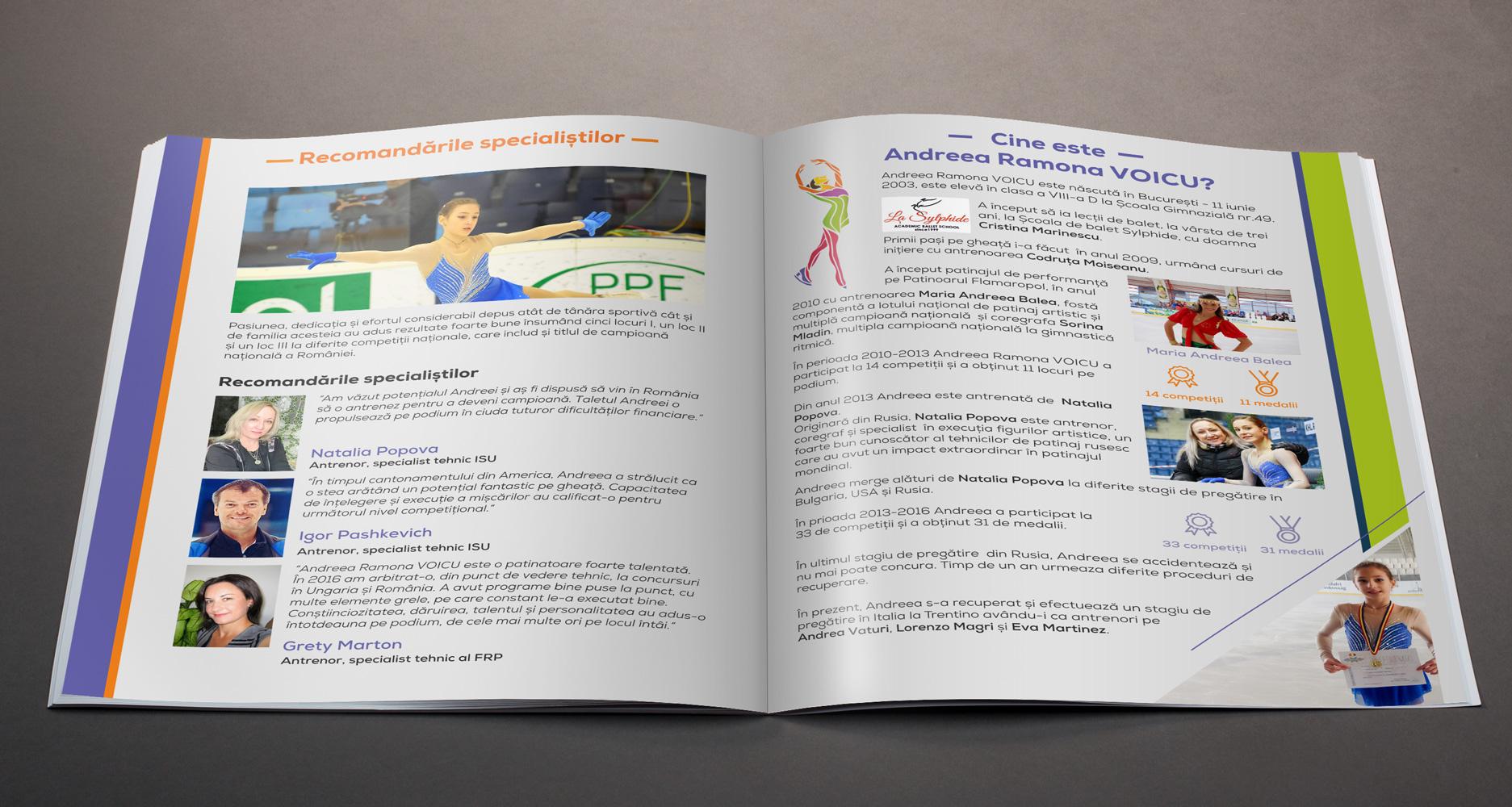 Concept, creatie si design brosura prezentare Andreea Ramona Voicu