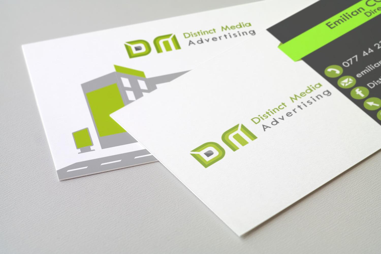 Distinct Media Advertising branding