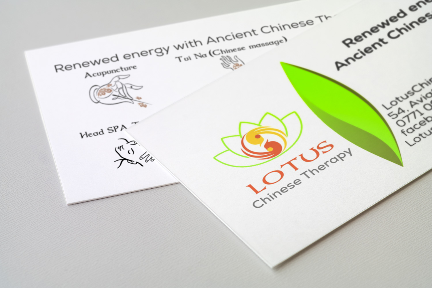 LOTUS Chinese Therapy branding